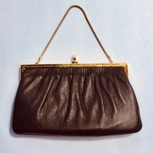 Beautiful vintage Etra leather clutch
